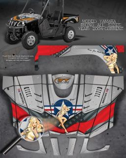 "Yamaha Rhino Hood Fender Bed Graphics ""The Warhawk"""
