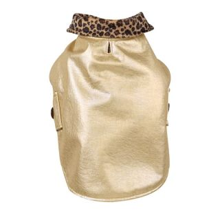 XS Reversible Gold Dog Coat or Leopard Print Free SHIP