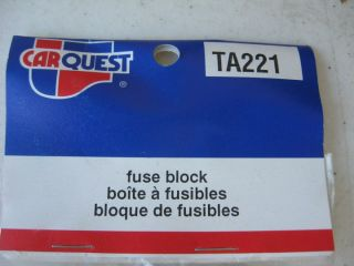 TA221 5 Fuse Glass Fuse Block Custom Wiring Rat Rod Hot Rod