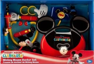 Large Mickey Mouse Clubhouse Doctor Set Kit  Carry Case Sound Lights