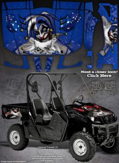 "Yamaha Rhino All Years Graphics ""The Evil Jester"" Blue"
