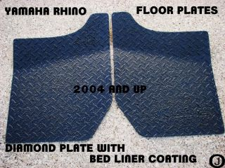 Yamaha Rhino Diamond Plate Floor Boards 2004 Up Black