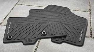 2013 Toyota Sienna Black All Weather Floor Mat 8 Pieces PT908 08130 20