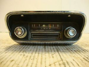 Original GM 1967 Ford Mustang Am 8 Track Radio Assembly Bezel w Knobs