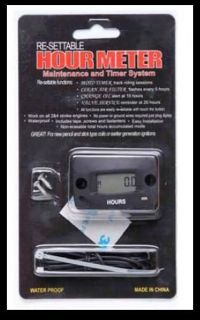 Vibration Hour Meter for Trailers Motorcycle ATV Snowmobile Boat New