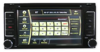 In Dash 2Din GPS Navigation iPod DVD  Radio Toyota Highlander Free Camera