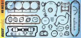 Cadillac 390 1963 Full Gasket Set Best Head Intake Exhaust Oil Pan Valve Cover