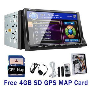 In Dash 2 DIN Car DVD Player Radio GPS Navigation Stereo Bluetooth iPod TV Head