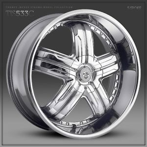 22 inch 22x9 5 Tis 533C Chrome Wheel Rim 6x135 F150 Expedition Navigator 6 Lug