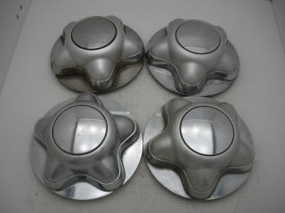 Lot of 4 97 98 99 00 Ford Expedition F150 Paint Chrome Wheel Center Caps Hubcaps