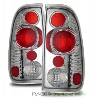 97 03 Ford F150 F250 F350 Chrome altezza Tail Lights Rear Brake Lamps