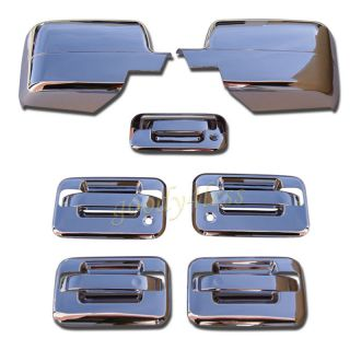 04 05 06 07 08 Ford F150 Chrome Door Handle Mirror Covers 2 K H Tailgate Combo