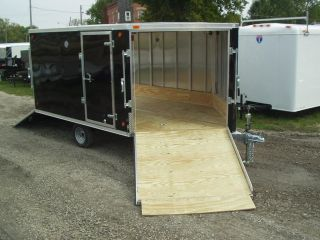2013 R R 8x10 5' V All Aluminum 2 Place Side by Side Snowmobile ATV Trailer