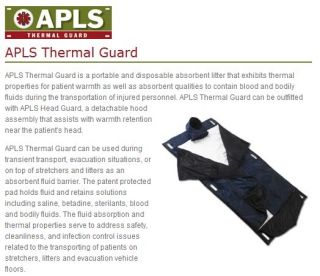 Medical Emergency Rescue Litter Apls Thermal Guard Patient Litter New