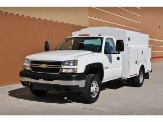 2007 Chevy 3500 2WD Allison Diesel Enclosed Omaha Service Utility Bed Hiroof