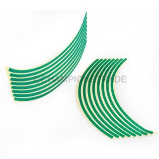 "Green Car Motorcycle Wheel Rim Stripe Reflective Decal Sticker Fit for 16""17""18"""