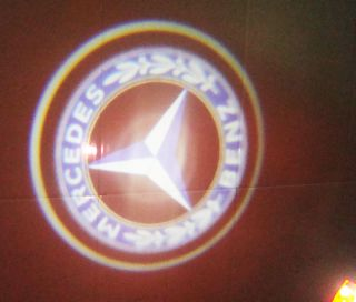 Mercedes Benz LED Car Door Step Welcome Laser Logo Projector Ghost Shadow Light