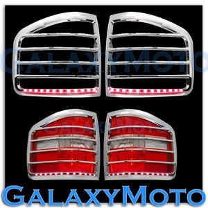 04 08 Ford F150 Chrome Flareside Taillight Tail Light Trim Bezel Red LED Cover