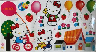 Hello Kitty Girls' Room Decor Wall Paper Sticker