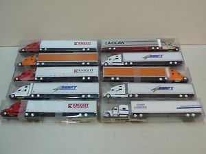 10 Tonkin Replicas HO Scale Semi Truck Models with Trailers Boxes Ton Trucks