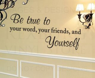 Wall Decal Quote Sticker Vinyl Art Lettering Large Be True Others Friendship I28