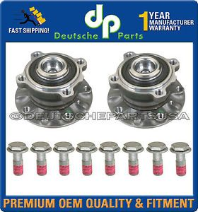 BMW E39 Front Wheel Bearing Bearings Hub Hubs Pair Left Right w Bolts 8 Set