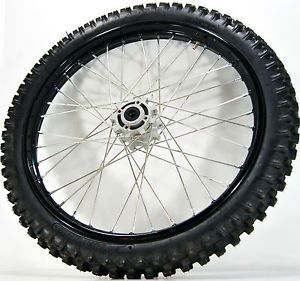 "New Chinese Dirt Bike 250cc Front 21"" Black Wheel w Bearing Tire 80 100 21"