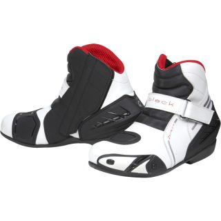 Black Circuit Short Ankle Motorcycle Sports Bike motorbike Race Boots Ghostbikes