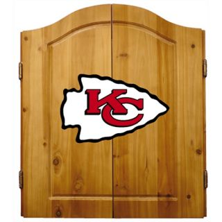 Imperial NFL Kansas City Chiefs Pine Wood Dart Cabinet Bristle Cone Board