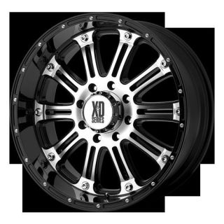 "17"" XD795 Hoss Machined Black Rims 295 70 17 Toyo Open Country MT Tires Wheels"