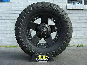 "20"" XD Rockstar Black 33x12 50R20 Toyo Open Country MT 33"" Mud Tire Best Mileage"