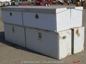 "Lot of 6 Utility Storage Tool Boxes Truck Bed Mounted 64"" 72"" 96"" Width"