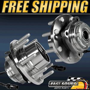 2 Front Left and Right Ford 4WD SRW w 4 Wheel ABS New Wheel Hub Bearing Pair