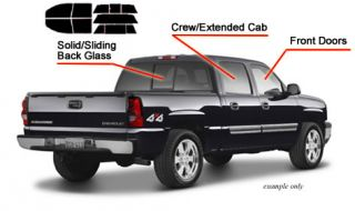 Chevy Silverado Ext Cab 99 06 Precut Tint Any Shade