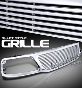 1999 2003 Ford F150 Pickup Front Chrome Billet Style Grille Upper Grill Kit New