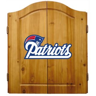 Imperial NFL New England Patriots Pine Wood Dart Cabinet Bristle Cone Board