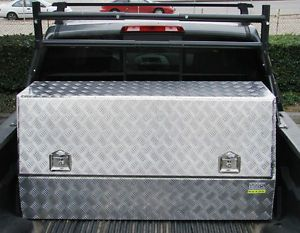 "56""L Aluminum Tool Box Storage Truck Pickup Bed Car Trailer UTV RV Tray Job Site"