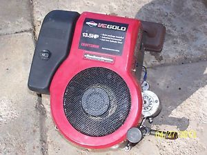 I C Gold Craftsman 13 5HP Briggs Stratton Vertical Engine Motor Lawn Tractor
