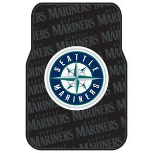 Seattle Mariners MLB Licensed Rubber Car Truck Floor Mats Set 2 Mats