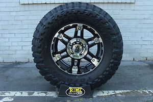 "18"" XD797 Spy Black Mach Wheels 33x12 50R18 Toyo MT 33"" Tires GM Ford JK Dodge"