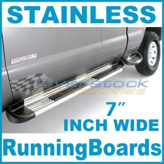 "2004 2006 Toyota Tundra Double Cab 7"" Stainless Steel Side Step Running Boards"