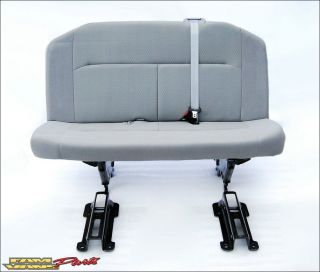 Ford Econoline Van Bench Seat 3 Person Grey Cloth 08 12 New Take Out