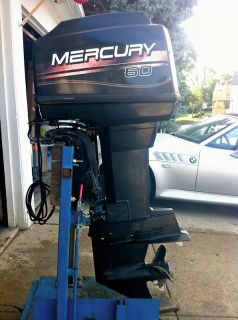1997 Mercury 60 HP 2 Stroke Outboard Motor 50 Water Ready Boat Engine 90 Honda