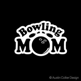 Bowling Mom Vinyl Decal Car Truck Window Sticker