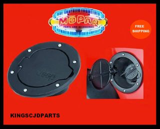 07 12 Mopar Jeep Wrangler 4 Door Unlimited Black Fuel Lid Gas Filler Door