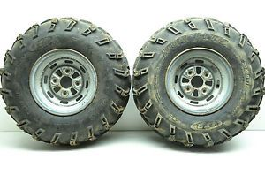"92 Honda Fourtrax 300 4x4 Rear Wheels Rims 25"" ITP Mud Lite Tires TRX300FW"