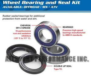 Honda TRX400FGA Fourtrax Rancher 4x4 '04 '07 Front Wheel Bearings Seals 2 Kits