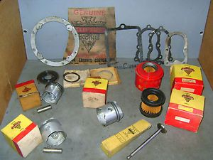 1 Lot Unused Clinton Small Engine Parts Pistons Rings Vintage Go Kart Minibike