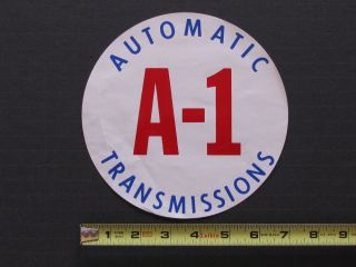 "Large ""A 1 Automatic Transmissions"" Vintage Drag Racing Sticker Decal NHRA"