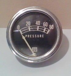 Vintage Stewart Warner Oil Gauge 32 Ford Model A Chevy Hot Rat Rod